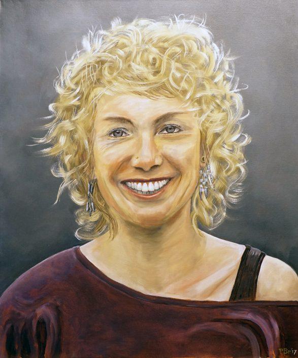 Portret - Marieke B. - Olieverf - Pieter Broertjes
