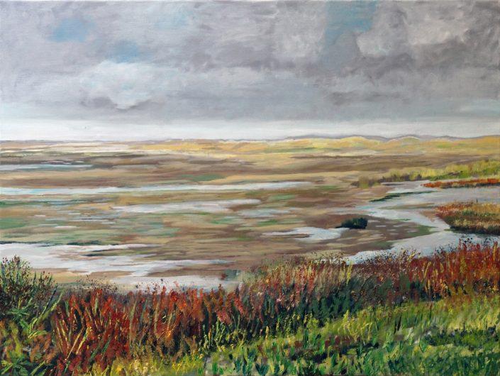 Terschelling - noordsvaarder, groene strand - Olieverf - Pieter Broertjes