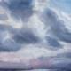 Imposante Wolken boven het Haringvliet - Olieverf - Pieter Broertjes