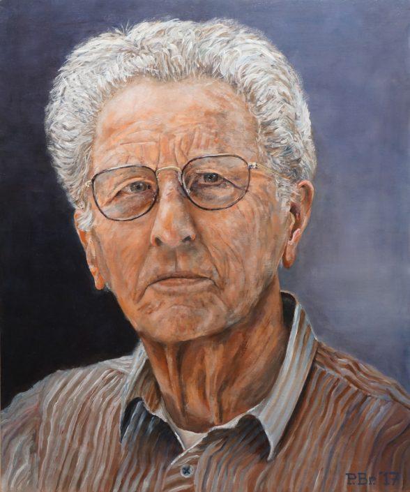 Portret Piet M - Olieverf op paneel - Pieter Broertjes