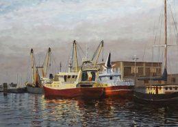 Breskens Vissershaven - Painted by: Pieter Broertjes