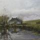 Stavoren-Friesland - Huis achter de IJsselmeeerdijk - Olieverf - Pieter Broertjes