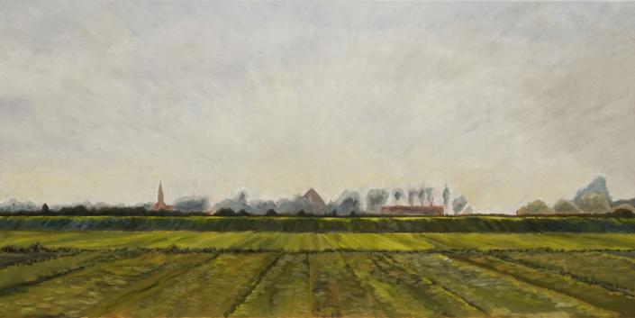 Fries Groen aan het Grutte Gaastmar - Olieverf - Pieter Broertjes